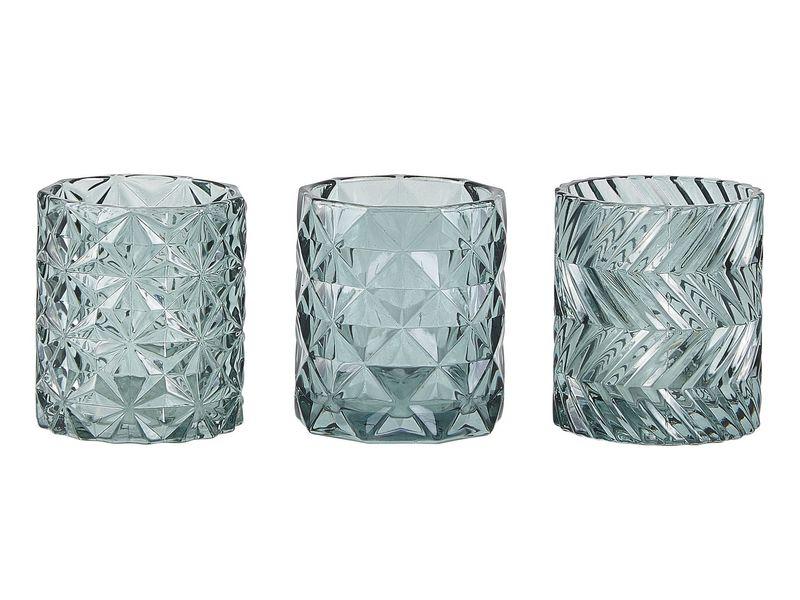 Teelichthalter 9 cm 1 Stück, Grün Farbe: Grün, Material: Glas, Höhe: 9 cm, Verpackungseinheit: 1 Stück, Durchmesser Ø 8 cm