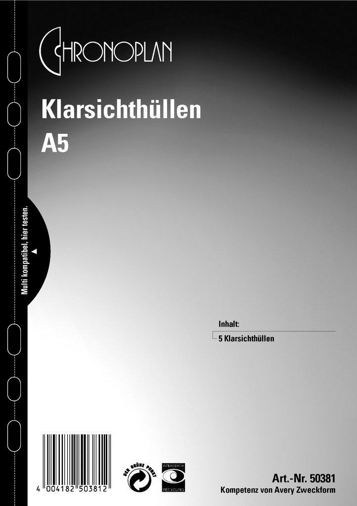Prospekthülle A5, transparent