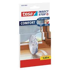 Insect Stop Klettband Rolle, geeignet für alle Fliegengitter, selbstklebend, spurlos ablösbar,