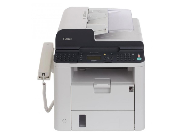 Canon i-Sensys FAX-L410, Schwarzweiss Laser Drucker, A4, 25 Seiten pro Minute, Drucken, Kopieren, Fax, Duplex