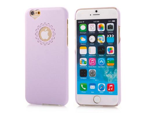 Hard Back Case lila für iPhone 6, aus PC Material für den Schutz vor Schmutz und Kratzern.