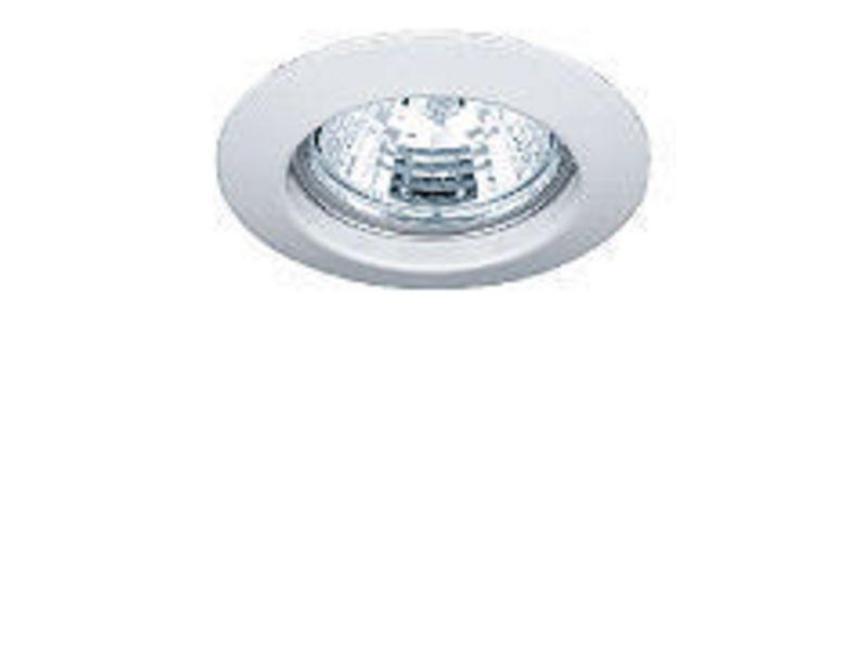 Einbauspot rund Weiss, starr Schutzklasse: IP20, Leuchten Kategorie: Down Light, Betriebsart: Netzbetrieb, Leuchten Design: Basic, Leuchtmittel: LED, Energiesparlampe, Halogenlampe, Lampensockel: GU10, GU5.3, G4, GY6.35, Dimmbar, Zusätzlich