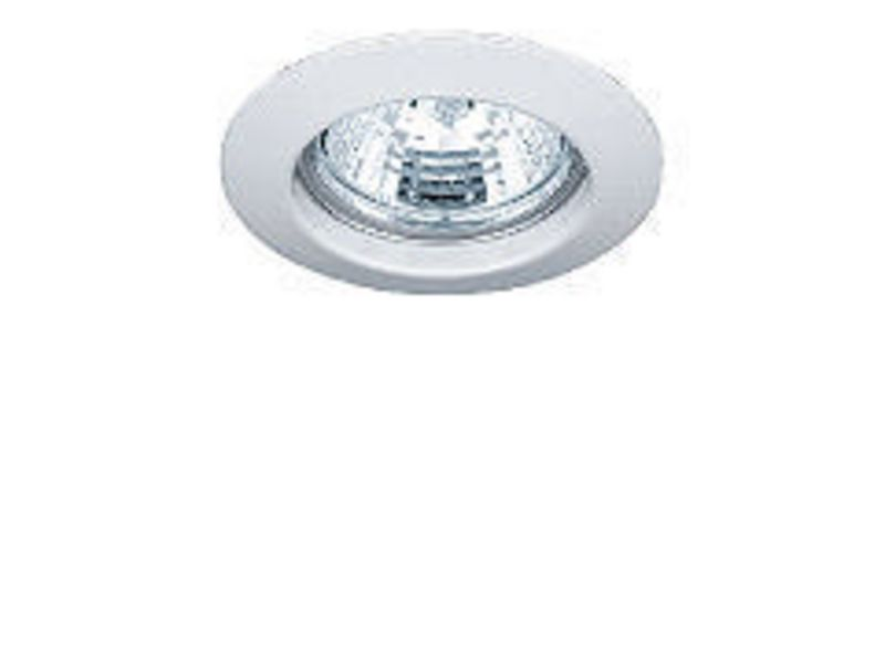 Einbauspot rund Chrom, starr Schutzklasse: IP20, Leuchten Kategorie: Down Light, Betriebsart: Netzbetrieb, Leuchten Design: Basic, Leuchtmittel: LED, Energiesparlampe, Halogenlampe, Lampensockel: GU10, GU5.3, G4, GY6.35, Dimmbar, Zusätzlich