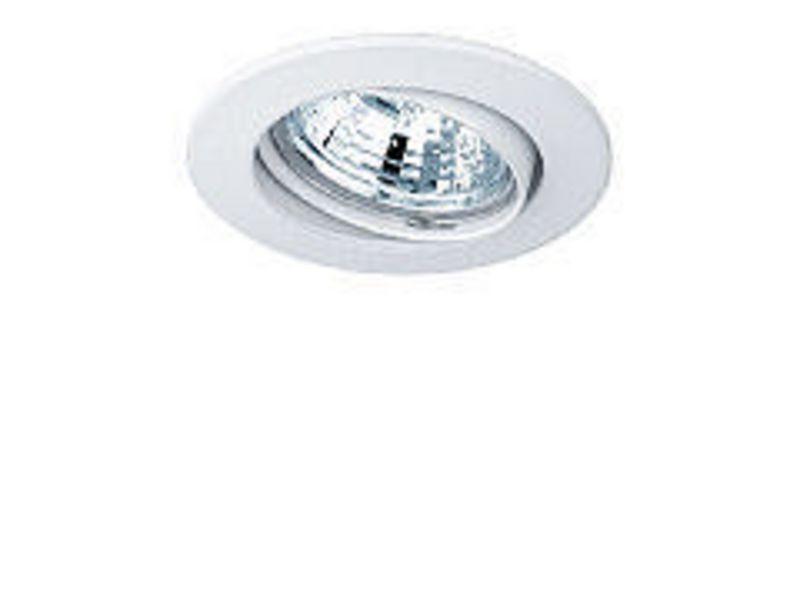 Einbauspot rund Weiss, schwenkbar Schutzklasse: IP20, Leuchten Kategorie: Down Light, Betriebsart: Netzbetrieb, Leuchten Design: Basic, Leuchtmittel: LED, Energiesparlampe, Halogenlampe, Lampensockel: GU10, GU5.3, G4, GY6.35, Dimmbar, Zusät