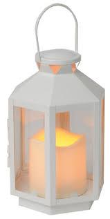 LED Laterne Weiss Outdoor 20cm, 0.025W, BxHxT 12cmx20cmx13cm,