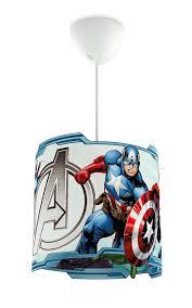 """Disney Pendelleuchte """"Avengers"""", 71751/35/16, kreirt durch Ausstanzungen im Schirm, IP20,"""