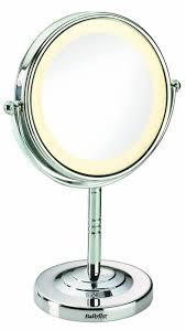 Kosmetikspiegel beleuchtet 8435E, 2 drehbare Spiegelflächen: normal/ 5-fache Vergrösserung