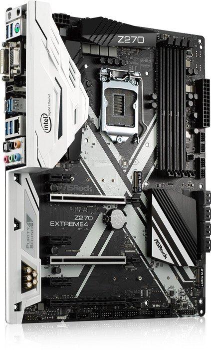 Mainboard Z270 EXTREME4 Arbeitsspeicher Bauform: DIMM, Arbeitsspeicher-Typ: DDR4, PCI Steckplätze: Keine, PCI-Express Steckplätze: 3x PCI-Express 3.0 x16, 3x PCI-Express 3.0 x1, Integrierte Grafik, Prozessorsockel: LGA 1151, RAID Level: 0, 1,