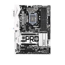 Mainboard H270 Pro4 Arbeitsspeicher Bauform: DIMM, Arbeitsspeicher-Typ: DDR4, PCI Steckplätze: 1x PCI, PCI-Express Steckplätze: 2x PCI-Express 3.0 x16, 3x PCI-Express 3.0 x1, Integrierte Grafik, Prozessorsockel: LGA 1151, RAID Level: 0, 1, 5,