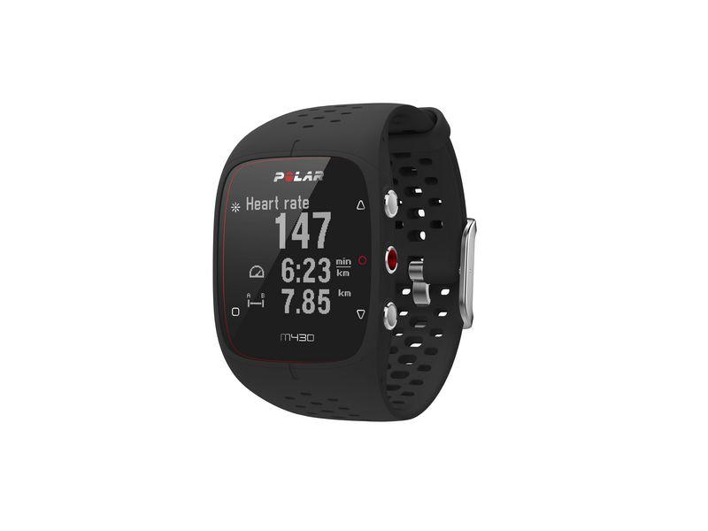 POLAR GPS-Sportuhr M430 Schwarz Verbindungsmöglichkeiten: Bluetooth, Fallsicher, Pulsmessung, GPS, Aktivitätsmessung: Aktivitätsdauer, Distanzmesser, Geschwindigkeit, Höhenmeter, Kalorienverbrauch, Schlafanalyse, Schrittzähler, Smartwatch Funktionen: