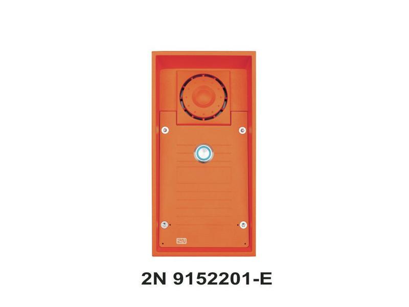 Helios Safety Analog Typ: Gegensprechanlage Analog, Türöffnung: optionaler Türöffner, Detektion: Klingelbetätigung, Videoüberwachung: Keine, Verbindungsmöglichkeiten: 2-Draht, Kabelgebunden, 1 Ruftaste, Signal Orange