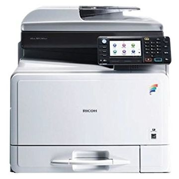 Ricoh Multifunktionsdrucker MP C305SPF, Farblaser Drucker, A4, 30 Seiten pro Minute, Drucken, Scannen, Kopieren, Fax, Duplex