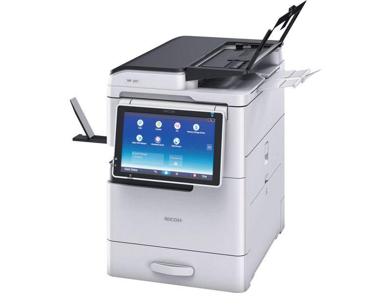 Ricoh Multifunktionsdrucker MP 305+ SP, Schwarzweiss Laser Drucker, A3, 30 Seiten pro Minute, Drucken, Scannen, Kopieren, Fax, Duplex