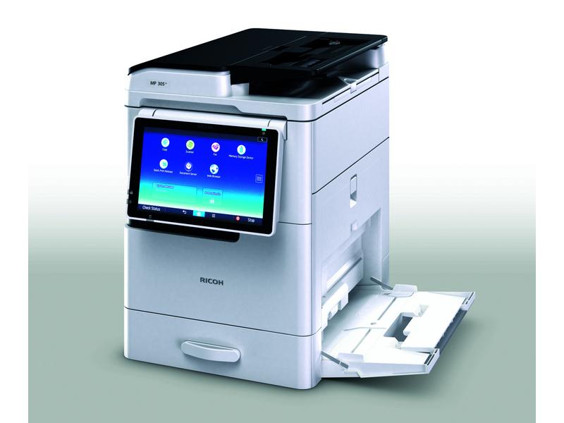 Ricoh MP 305+ SPF, Schwarzweiss Laser Drucker, A4, 30 Seiten pro Minute, Drucken, Scannen, Kopieren, Fax, Duplex