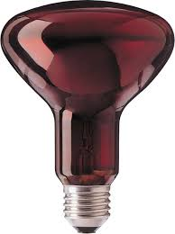 Halogen Infrarotlampe R95 100W, E27-Sockel, 230V,