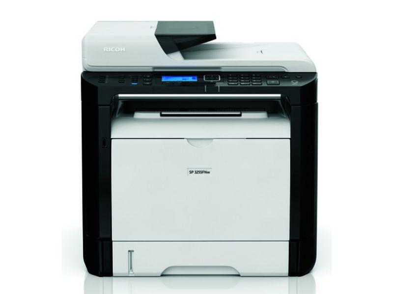 Ricoh SP 325SFNW, Schwarzweiss Laser Drucker, A4, 28 Seiten pro Minute, Drucken, Scannen, Kopieren, Fax, Duplex und WLAN