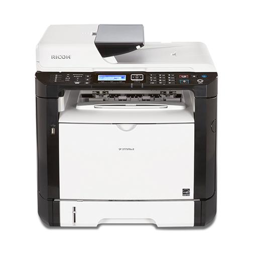 Ricoh SP 377sfnwx, Schwarzweiss Laser Drucker, A4, 28 Seiten pro Minute, Drucken, Scannen, Kopieren, Fax, Duplex und WLAN