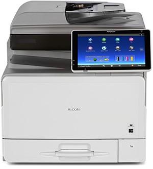 Ricoh MP C307SP, Farblaser Drucker, A4, 40 Seiten pro Minute, Drucken, Scannen, Kopieren, Duplex und WLAN