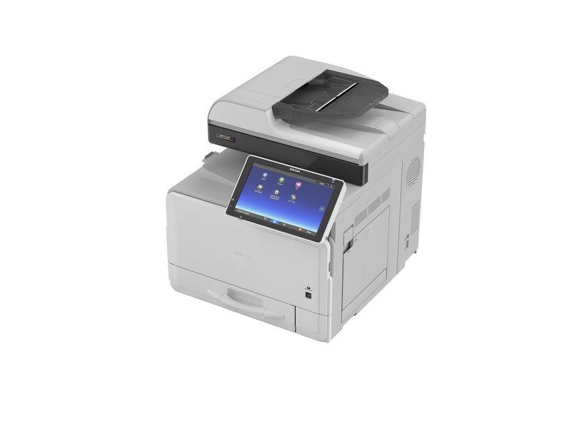 Ricoh Multifunktionsdrucker MP C307SPF, Farblaser Drucker, A4, 30 Seiten pro Minute, Drucken, Scannen, Kopieren, Fax, Duplex und WLAN