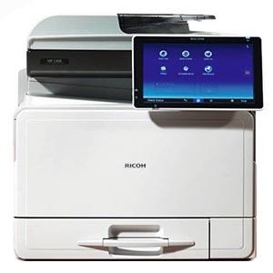 Ricoh MP C407SPF, Farblaser Drucker, A4, 40 Seiten pro Minute, Drucken, Scannen, Kopieren, Fax, Duplex und WLAN