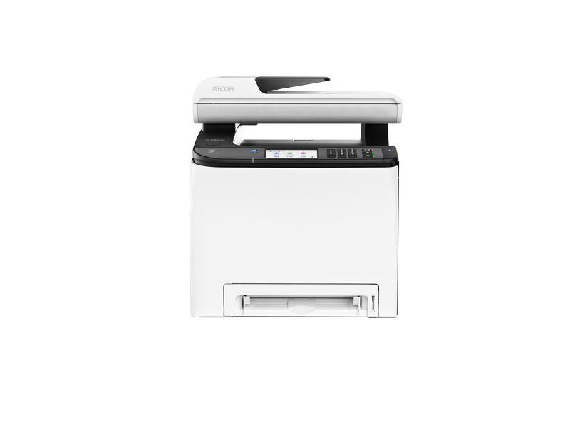 Ricoh Multifunktionsdrucker SP C260SFNW, Farblaser Drucker, A4,  20 Seiten pro Minute, Drucken, Scannen, Kopieren, Fax, Duplex und WLAN