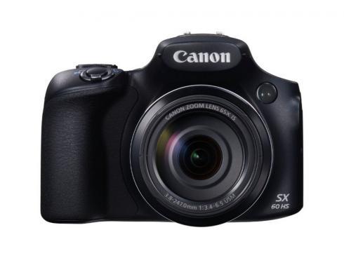 Canon PowerShot SX60 HS, Digitalkamera-Kompaktkamera, 3 Zoll LCD, 16.1 MP, 4608 x 3456 Pixel, 65 x optischer Zoom, 4 x Digitales Zoom, SD-SDHC-SDXC, Schwarz