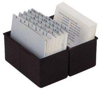 Karteikasten, DIN A5 quer, Kunststoff, schwarz
