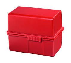 Karteikasten, DIN A5 quer, Kunststoff, rot