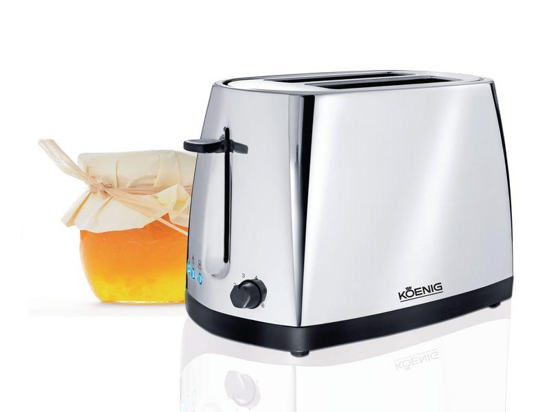 Toaster Chrome Line Chrom Farbe: Chrom, Toaster Ausstattung: Auftaufunktion, Aufwärmfunktion, Krümel-Auffangschale, Toaster Kategorie: Langschlitz Toaster, Toastscheiben: 2 ×