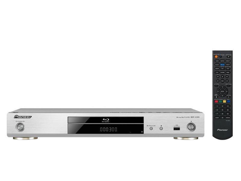 Pioneer Blu-ray Player BDP-X300-S 3D-Fähigkeit, TV-Tuner: Kein, Farbe: Silber, Schnittstellen: HDMI, USB, LAN, Composite, Coaxial, Toslink, Typ: Bluray Player, Ausstattung: 4K Upscale, Hi-Res Audio, LAN, Miracast, DLNA