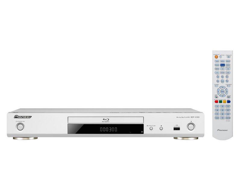 Pioneer Blu-ray Player BDP-X300-W 3D-Fähigkeit, TV-Tuner: Kein, Farbe: Weiss, Schnittstellen: HDMI, USB, LAN, Composite, Coaxial, Toslink, Typ: Bluray Player, Ausstattung: 4K Upscale, Hi-Res Audio, LAN, Miracast, DLNA