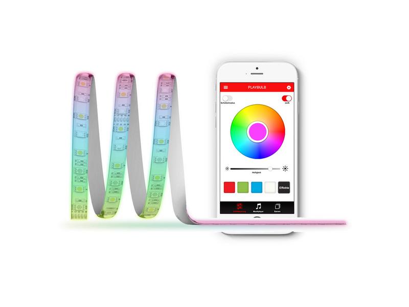 MiPow Playbulb Comet+, Farbe: Rot; Grün; Blau; Weiss, Länge: 2 m, steuerbar ab Apple iPhone 4S und Android ab 4.3, erweiterbar mit Playbulb Comet Extension (430404)