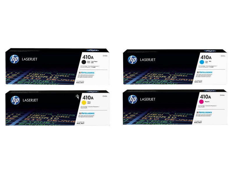 HP HP Rainbow Kit CF410A-CF413A (BCMY) Druckleistung Seiten: 2300 ×, 2300 ×, 2300 ×, 2300 ×, Toner/Tinte Farbe: Black, Cyan, Magenta, Yellow