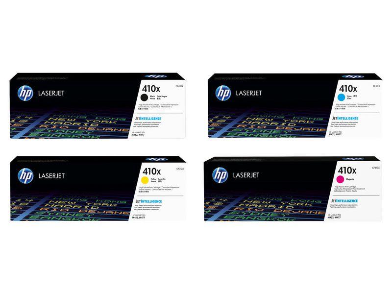 HP HP Rainbow Kit CF410X-CF413X (BCMY) Druckleistung Seiten: 6500 ×, 5000 ×, 5000 ×, 5000 ×, Toner/Tinte Farbe: Black, Cyan, Magenta, Yellow