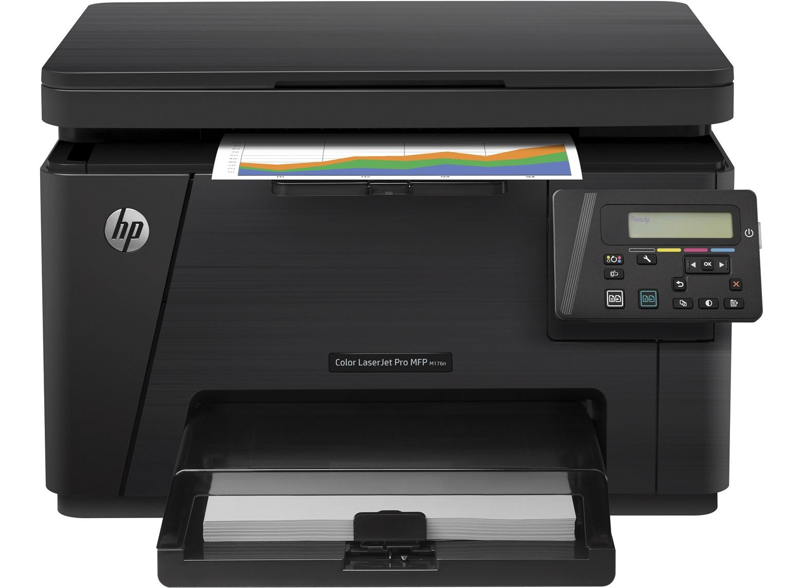 Hewlett-Packard HP MFP M176n, Farblaser Drucker, A4, 16 Seiten pro Minute, Drucken, Scannen, Kopieren