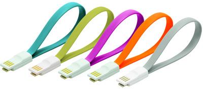 LogiLink USB 2.0 Kabel mit Magnet,pink