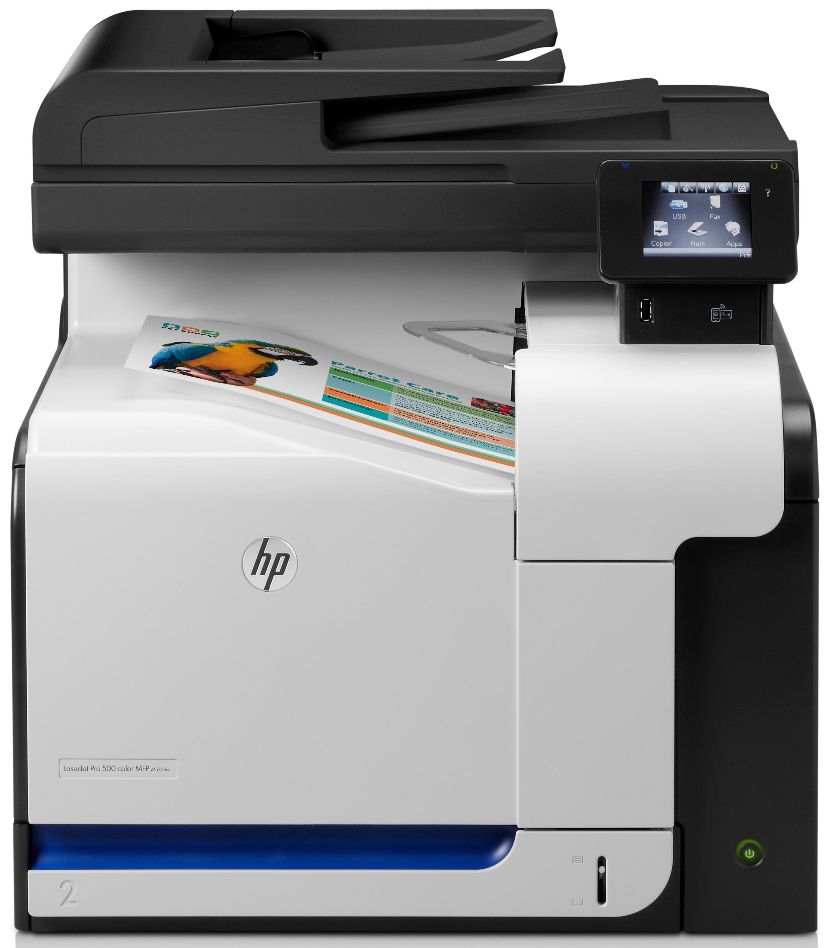 Hewlett-Packard HP Color Laserjet MFP M570DW, Farblaser Drucker, A4, 30 Seiten pro Minute, Drucken, Scannen, Kopieren, Fax, Duplex