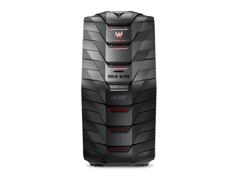 Acer PC Predator G6-720, Intel Core i7-7700K, 16GB DDR4 RAM, 1TB HDD + 256GB SSD, NVIDIA GeForce GTX 1080 mit 8 GB GDDR5X-Grafikspeicher (DVI, HDMI, 3x DP), Windows 10 Home