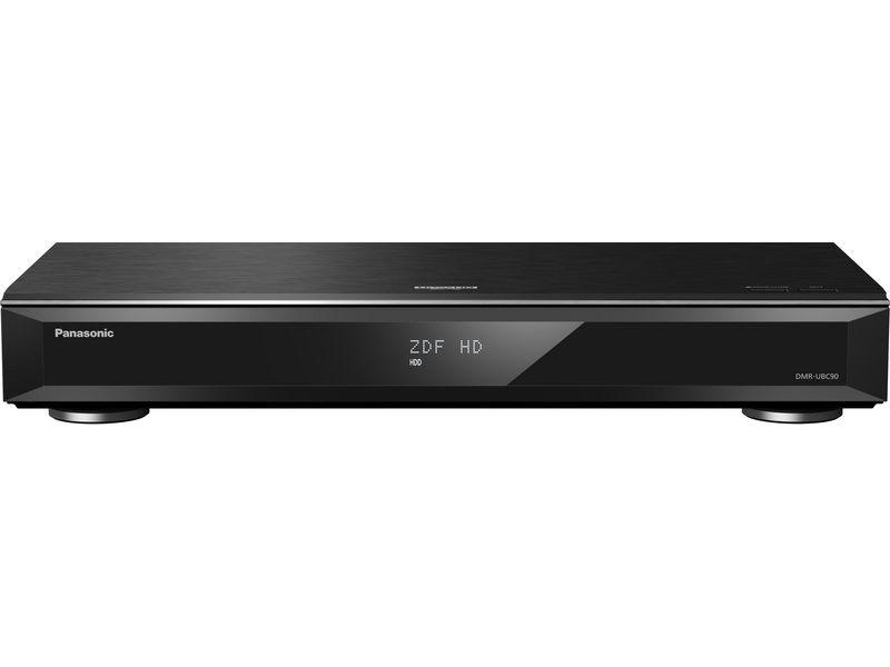 Panasonic Bluray Recorder DMR-UBC90EGK 3D-Fähigkeit, TV-Tuner: DVB-C (Kabel), DVB-T2 (terrestrisch), Farbe: Schwarz, Schnittstellen: SD Card Slot, USB, HDMI, Coaxial, RJ-45 (Ethernet), Typ: Bluray-Recorder, Ausstattung: WLAN, Miracast, 4K Upscale, 4K