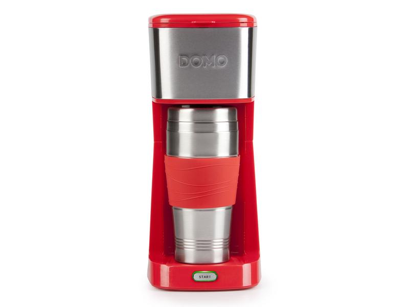 Filterkaffeemaschine MY COFFEE DO438K Farbe: Rot, Anzahl Tassen: 2 ×, Material: Edelstahl, Ausstattung: on the Go, doppelt isolierter Thermosbecher von 400 ml