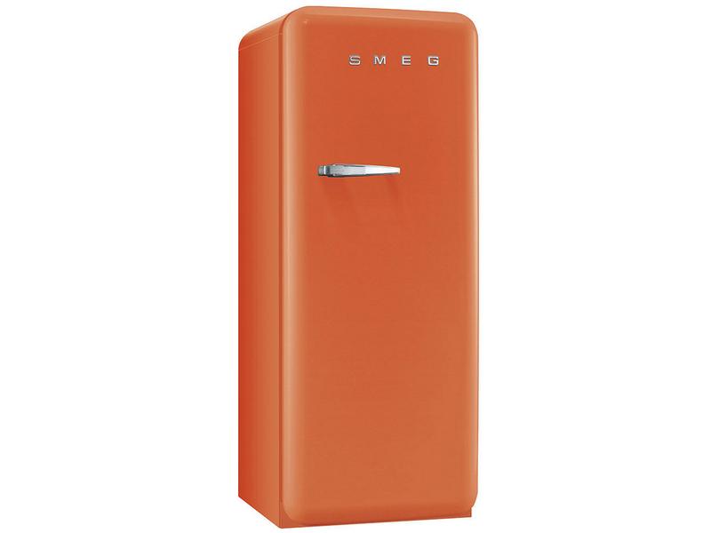 SMEG Kühlschrank FAB28RO1 Rechts Energieeffizienzklasse: A++, Bauart: Freistehend, Einbaunormen: Keine, Nutzinhalt Kühlen: 222 l, Nutzinhalt Gefrieren: 26 l, Breite: 600 mm, Nutzinhalt Gesamt: 248 l, Abtauverfahren Kühlung: Automatisch, Farbe: Orange