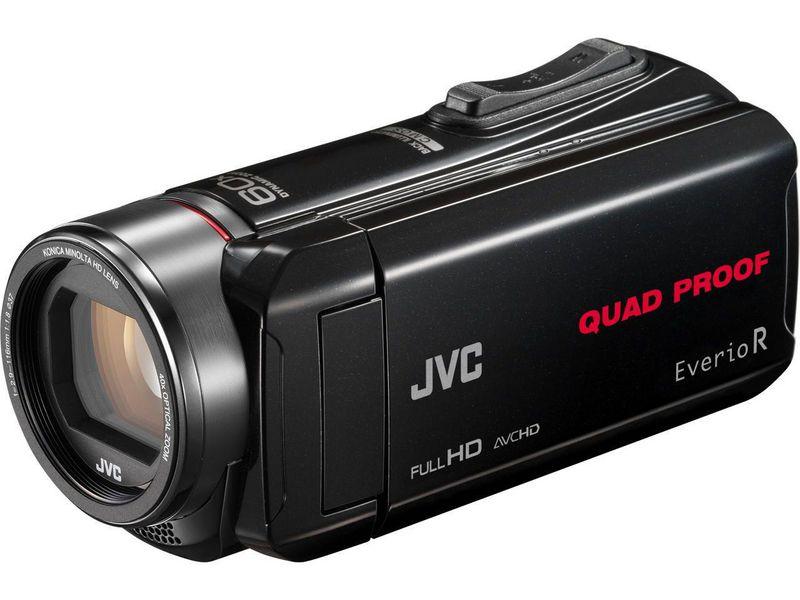 JVC Camcorder GZ-R435B Widerstandsfähigkeit: Wassergeschützt, Stossgeschützt, Staubgeschützt, Frostbeständig, Bildschirmdiagonale: 3 \