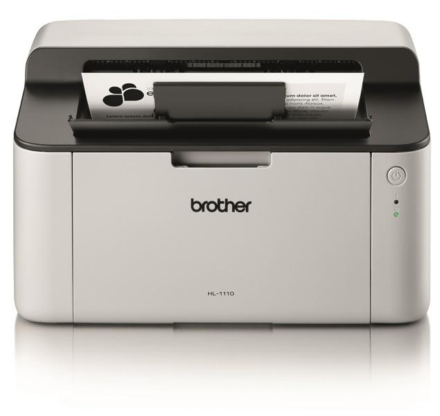 Brother HL-1110C1, Schwarzweiss Laser Drucker, A4, 21 Seiten pro Minute, Drucken, Duplex