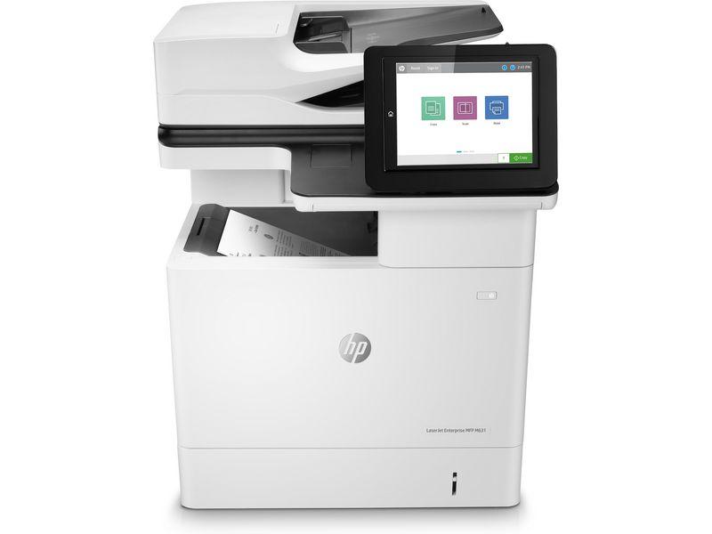 Hewlett-Packard HP LaserJet Enterprise MFP M631dn, Schwarzweiss Laser Drucker, A4, 52 Seiten pro Minute, Drucken, Scannen, Kopieren, Duplex