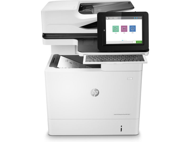 Hewlett-Packard HP LaserJet Enterprise Flow MFP M631h, Schwarzweiss Laser Drucker, A4, 52 Seiten pro Minute, Drucken, Scannen, Kopieren, Duplex