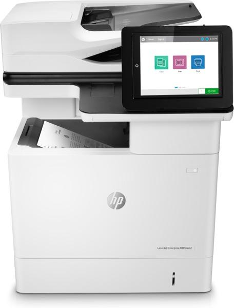 Hewlett-Packard HP LaserJet Enterprise MFP M632h, Schwarzweiss Laser Drucker, A4, 61 Seiten pro Minute, Drucken, Scannen, Kopieren, Duplex