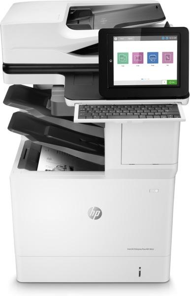 Hewlett-Packard HP LaserJet Enterprise Flow MFP M632z, Schwarzweiss Laser Drucker, A4, 61 Seiten pro Minute, Drucken, Scannen, Kopieren, Fax, Duplex