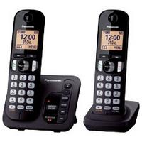 KX-TGC222SLB Schwarz Duo, Schnurlostelefon mit Anrufbeantworter, 1.6 Zoll Display,