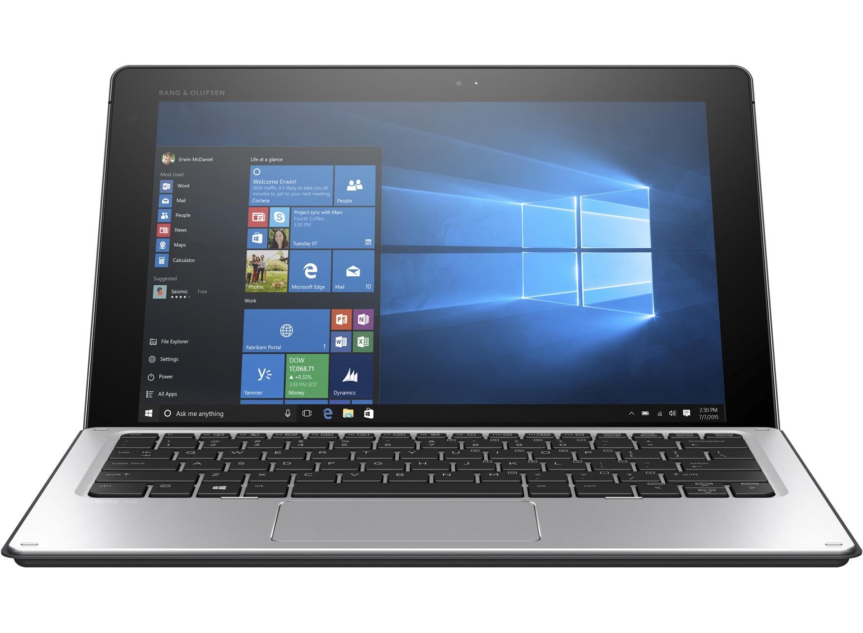 Hewlett-Packard HP Notebook Elite x2 1012 G1, Intel Core M5-6Y54, 8GB DDR3 RAM, 256GB SSD, 12 Zoll, 1920 x 1080 Pixel, Windows 10 Pro
