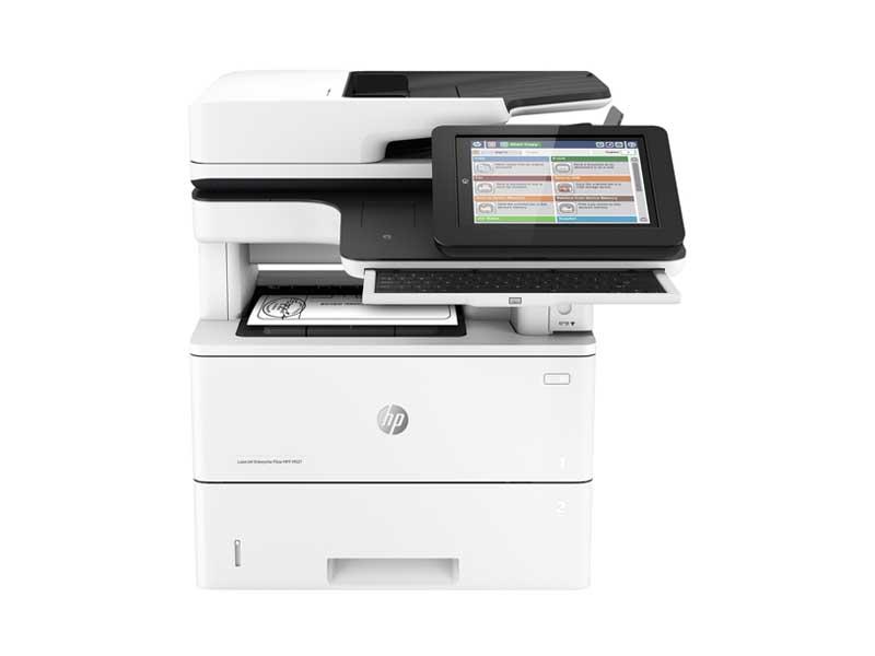 Hewlett-Packard HP  Enterprise MFP M527DN, Schwarzweiss Laser Drucker, A4, 43 Seiten pro Minute, Drucken, Scannen, Kopieren, Duplex und WLAN